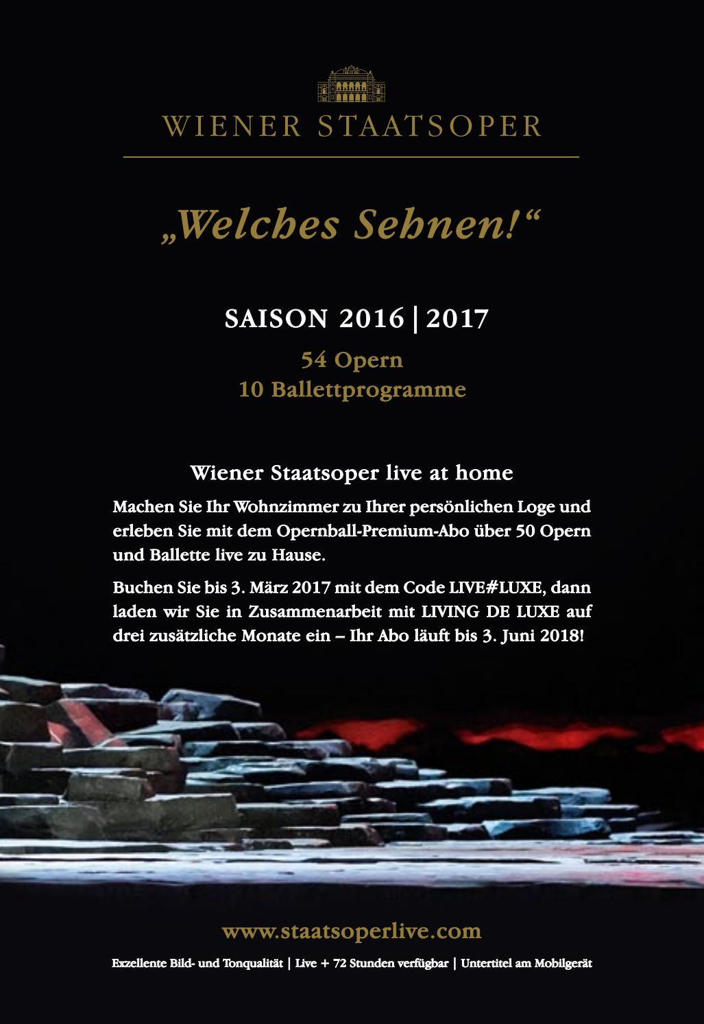 Living At Home März 2018 Wiener Opernball 2017 Programmheft By Wiener Staatsoper