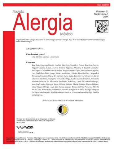 Revista alergia 61 1 2014 by Soy JM - issuu