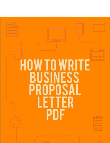 How to Write Business Proposal Letter PDF by BusinessProposalLetter