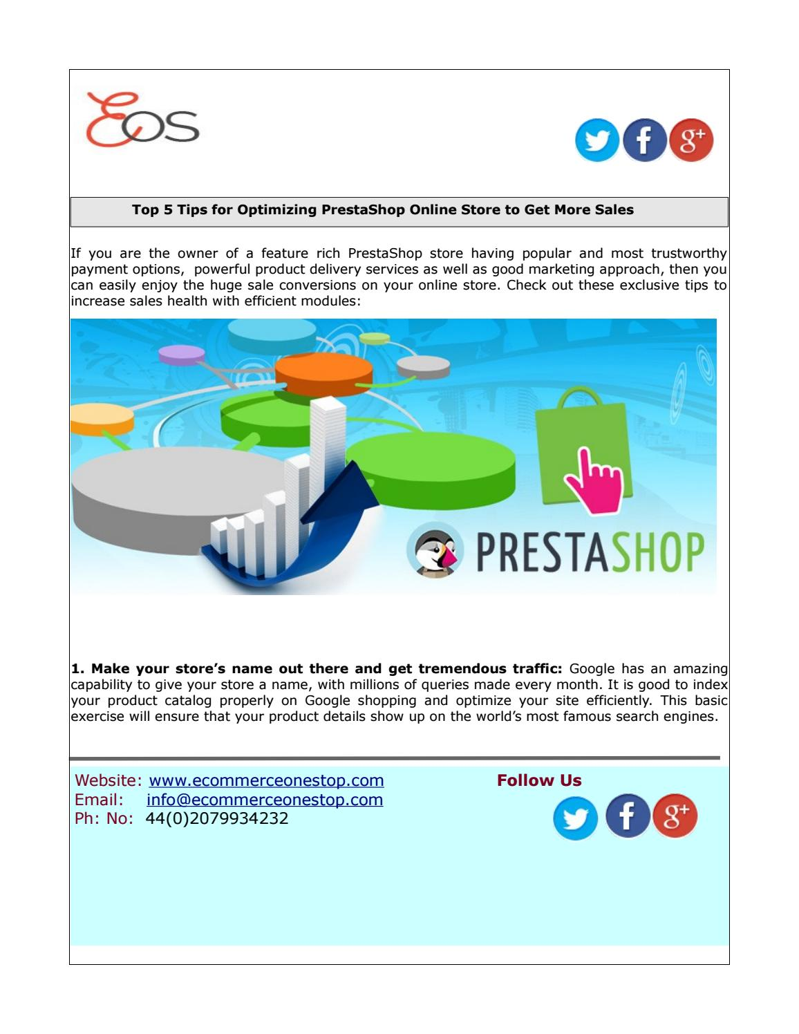 No Name Online Shop Top 5 Tips For Optimizing Prestashop Online Store To Get More Sales