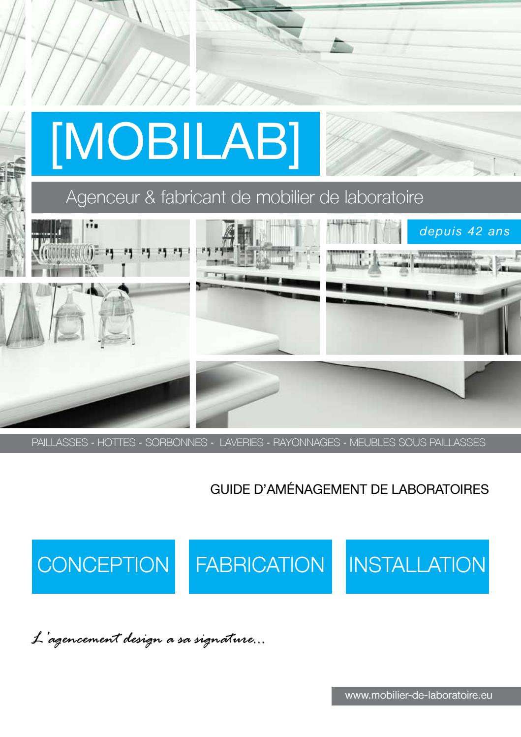 Meuble Palette Nocif Catalogue Mobilab 2017 Mobilier De Laboratoire By Biolab