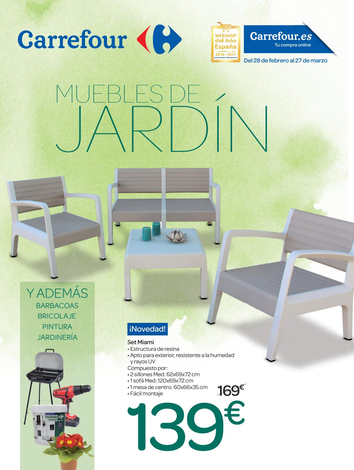Catalogo De Piscinas Desmontables Carrefour Muebles De Jardin Carrefour By Ofertas Supermercados Issuu