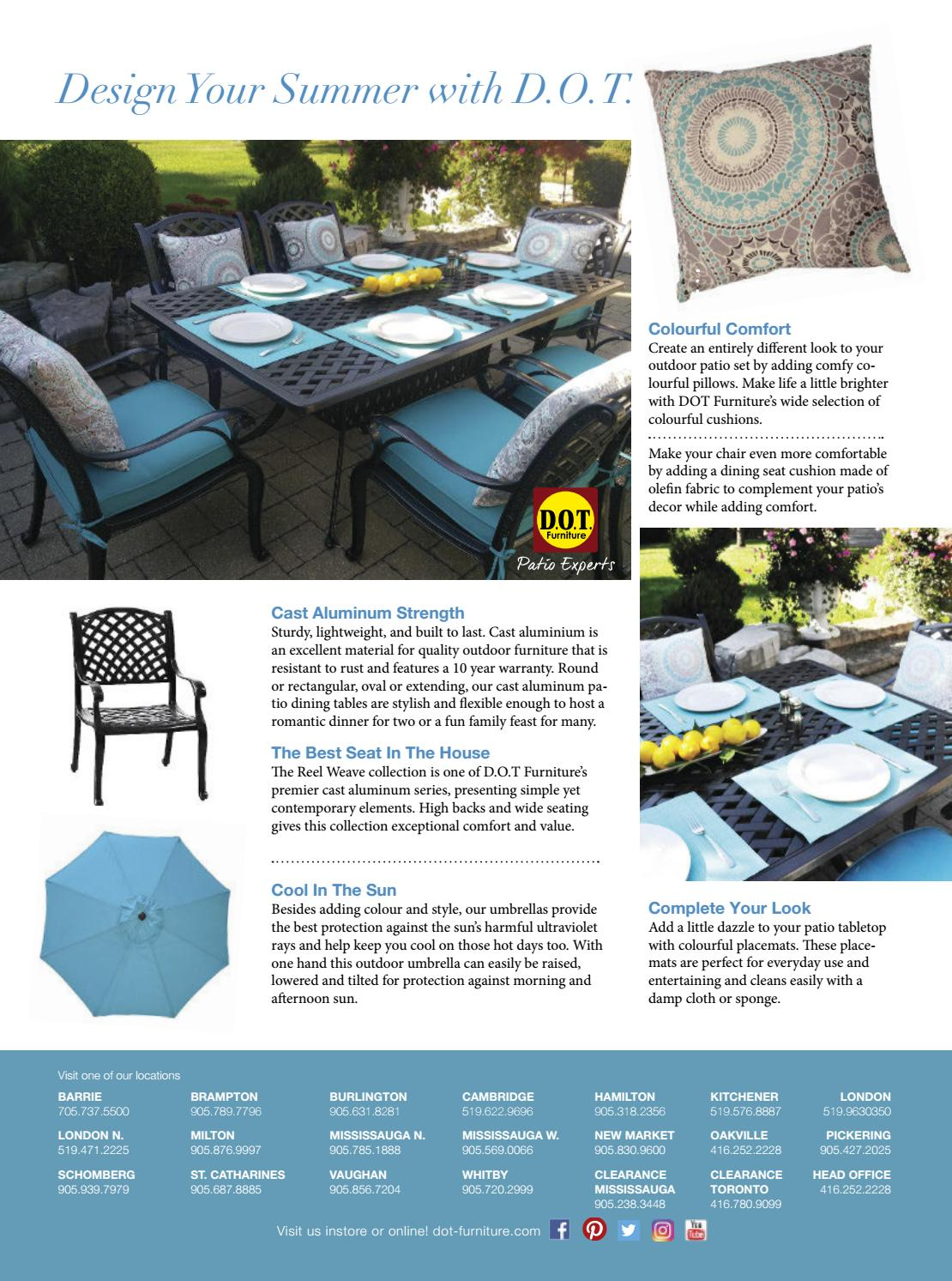 Patio Furniture Sale Mississauga Reno Decor Magazine Apr May 2017