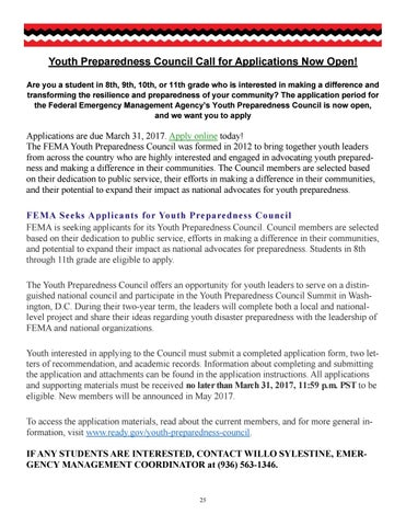 Alabama-Coushatta March 2017 Newsletter by Alabama-Coushatta Tribe - fema application form