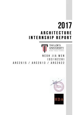 Architecture Internship Report by Wilden How - issuu