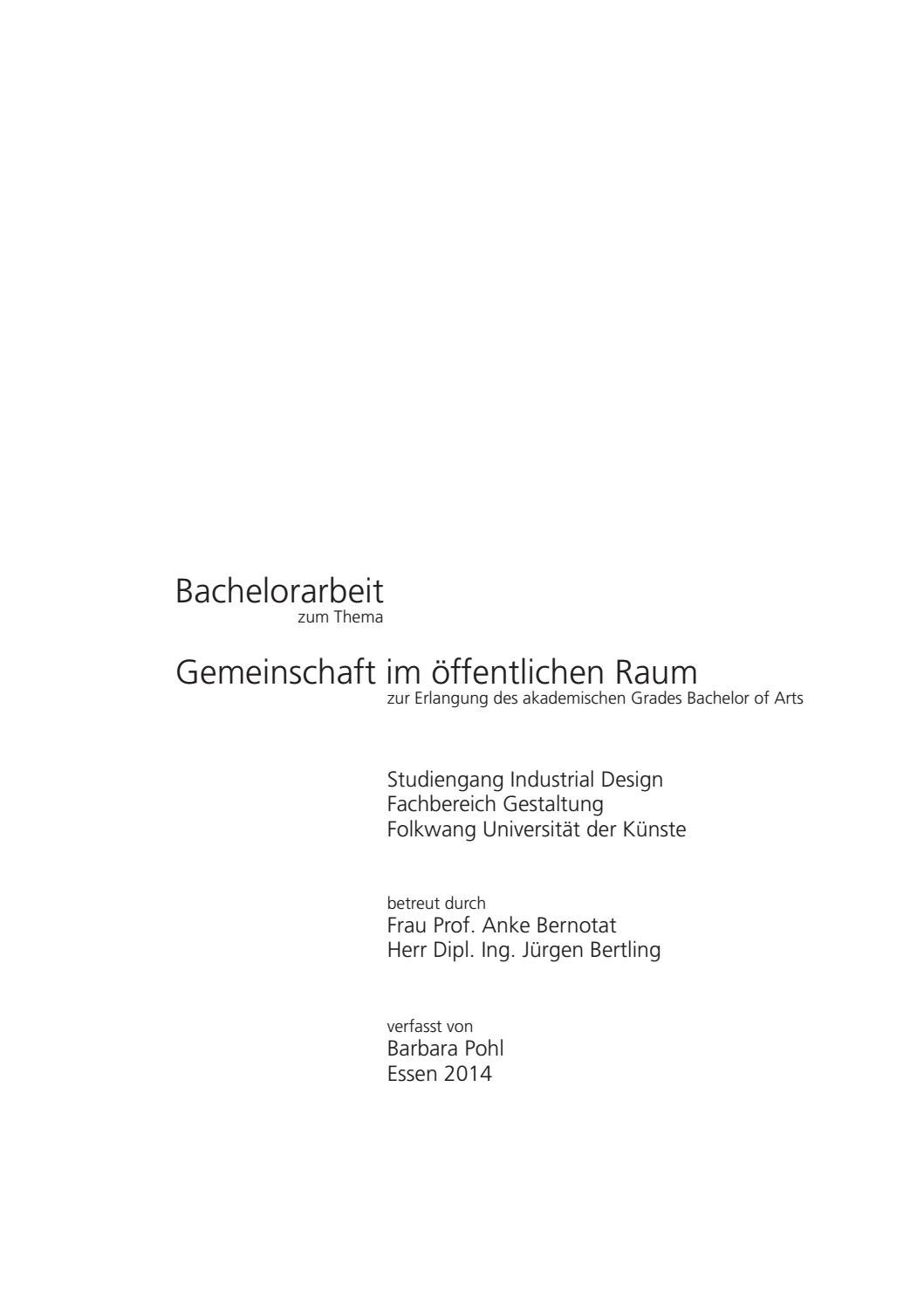 Alsenstraße Wohnzimmer Bochum Bachelor Thesis Barbara Pohl By Barbara Pohl Issuu