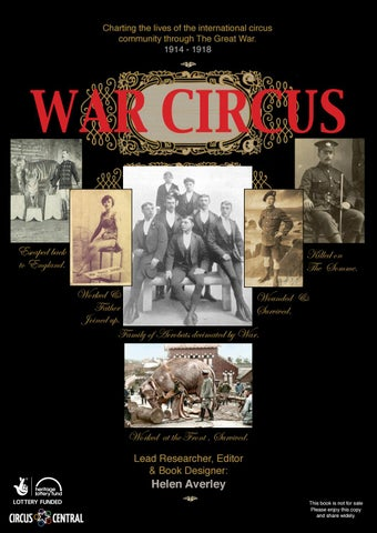 War circus 1914 1918 by Madame La Bonche Publishing - issuu