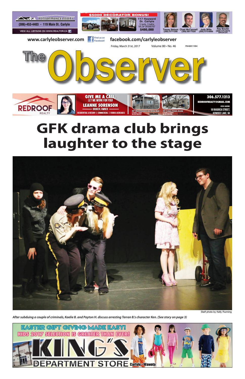 Gfk Pool Astra Carlyle Observer March 31 2017