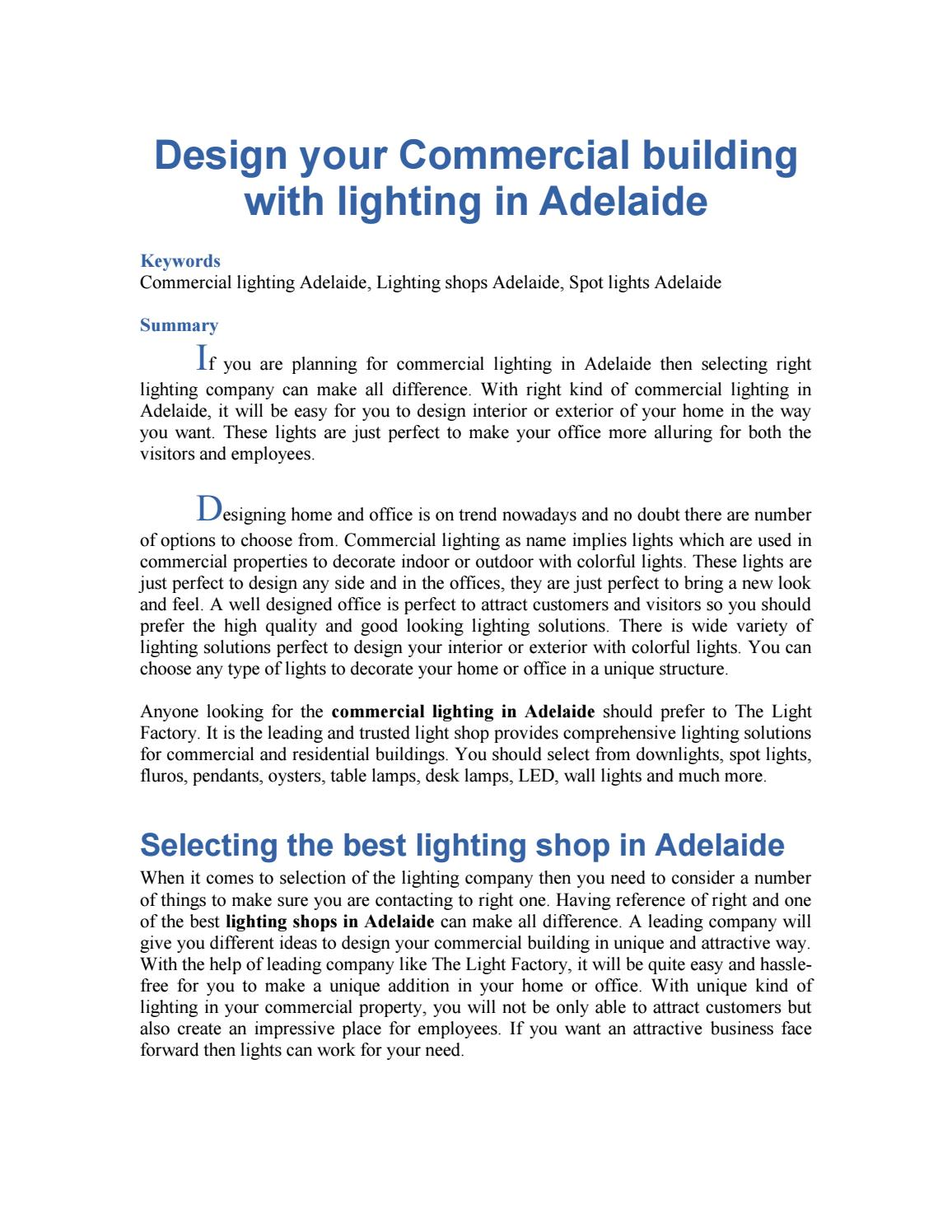 Light Shop Adelaide Design Your Commercial Building With Lighting In Adelaide By