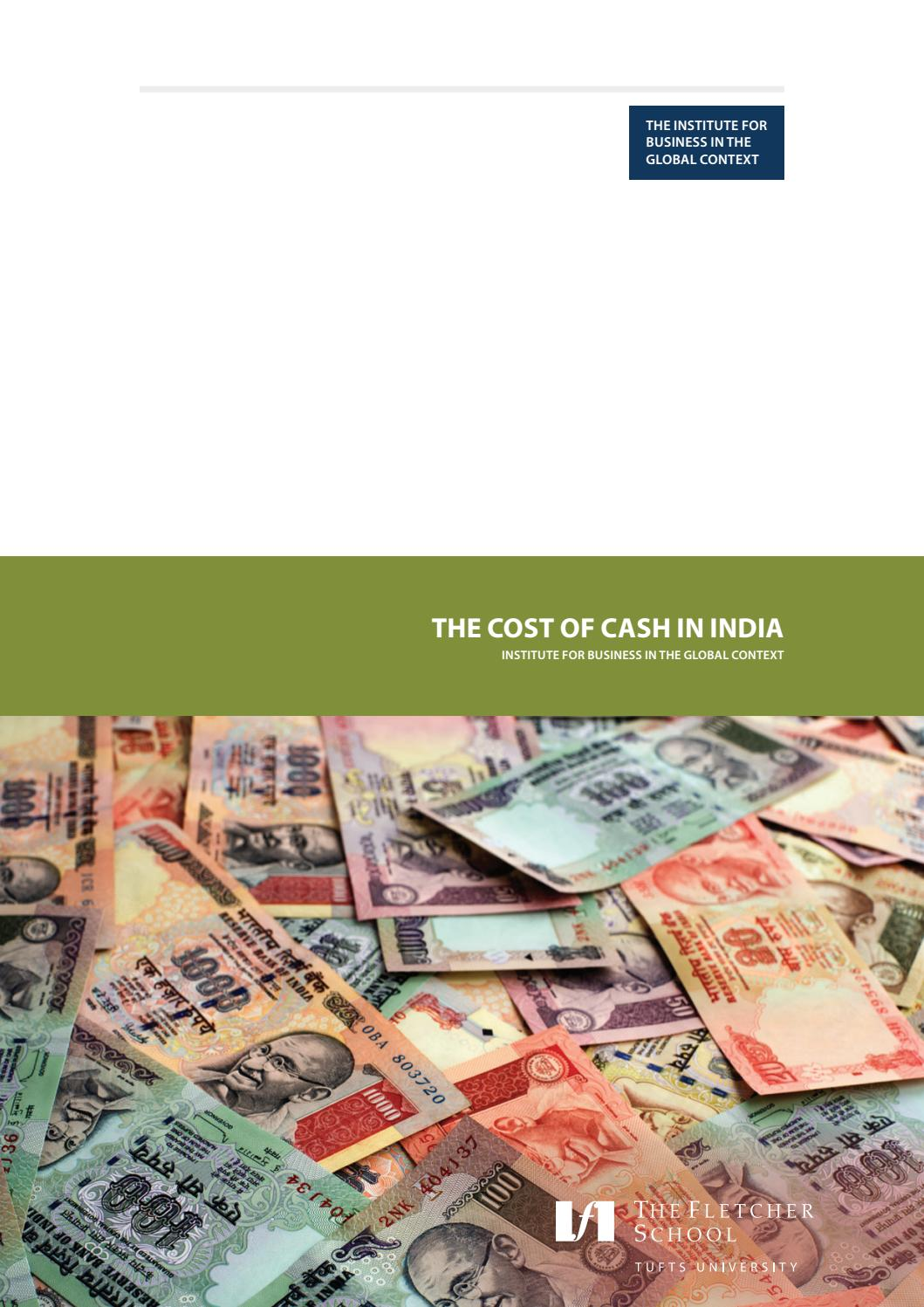 Cash Pool Banken München Tufts University The Cost Of Cash In India By Opus Issuu