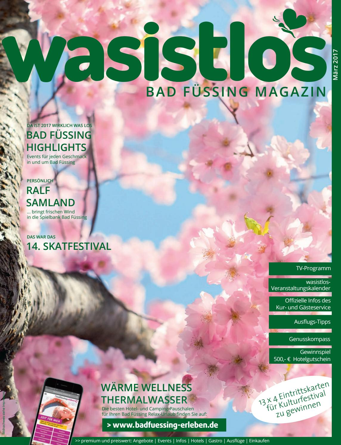 Wasistlos Badfüssing Magazin März 2017 By Remark Marketing Medien Issuu