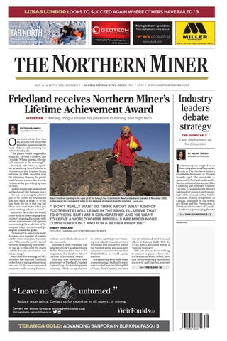 The Northern Miner May 1 2017 Issue by The Northern Miner Group - issuu
