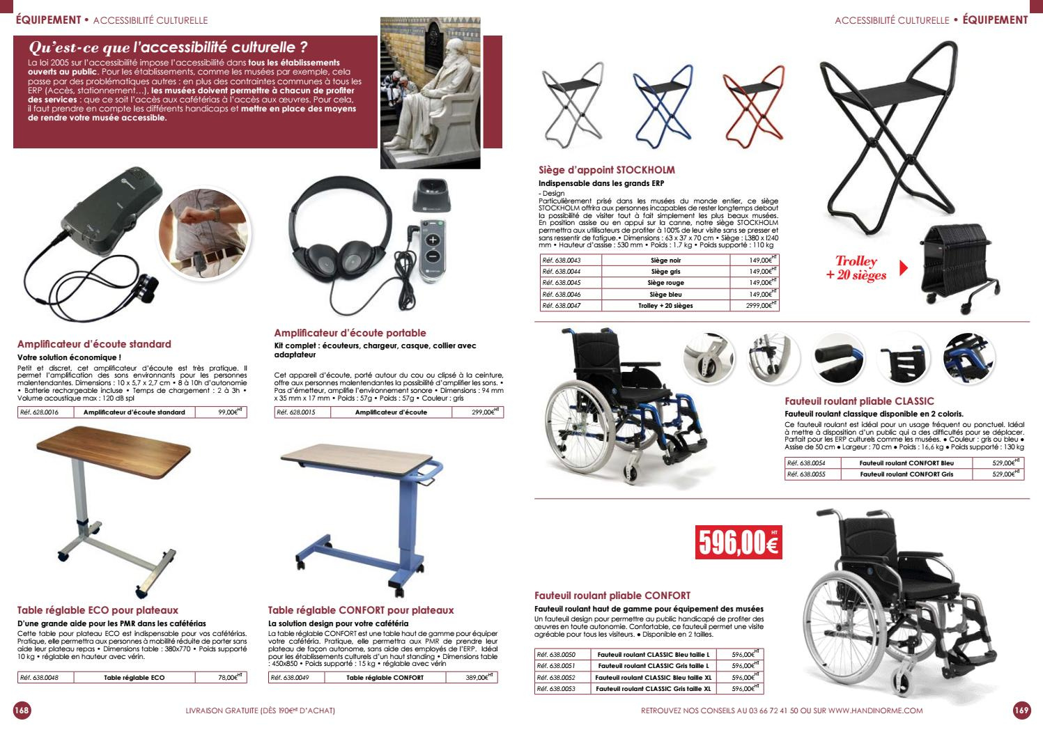 Dimension Fauteuil Handicapé Catalogue Handinorme Avril 2017