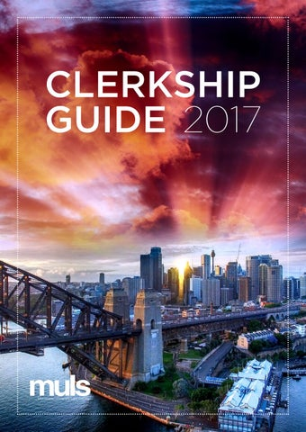 Clerkship Guide 2017 by Macquarie University Law Society - issuu