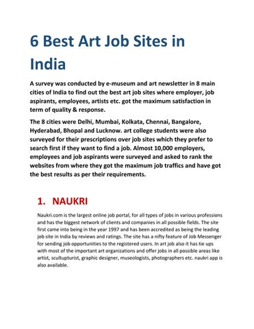 Art jobs in Delhi by ART CULTURE FESTIVAL ACF - issuu - leading job search sites