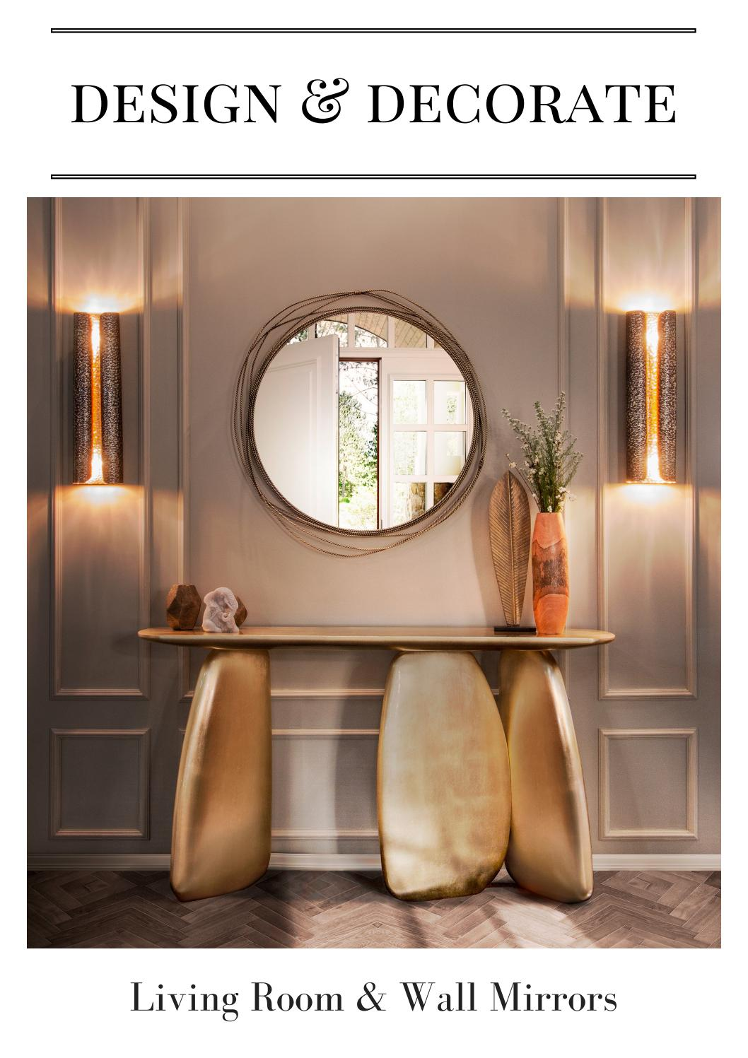 Design Decorate Living Room Wall Mirrors By Home Living Magazines Issuu