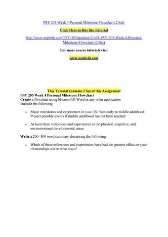Psy 205 week 4 personal milestone flowchart (2 set) by cdeq - issuu