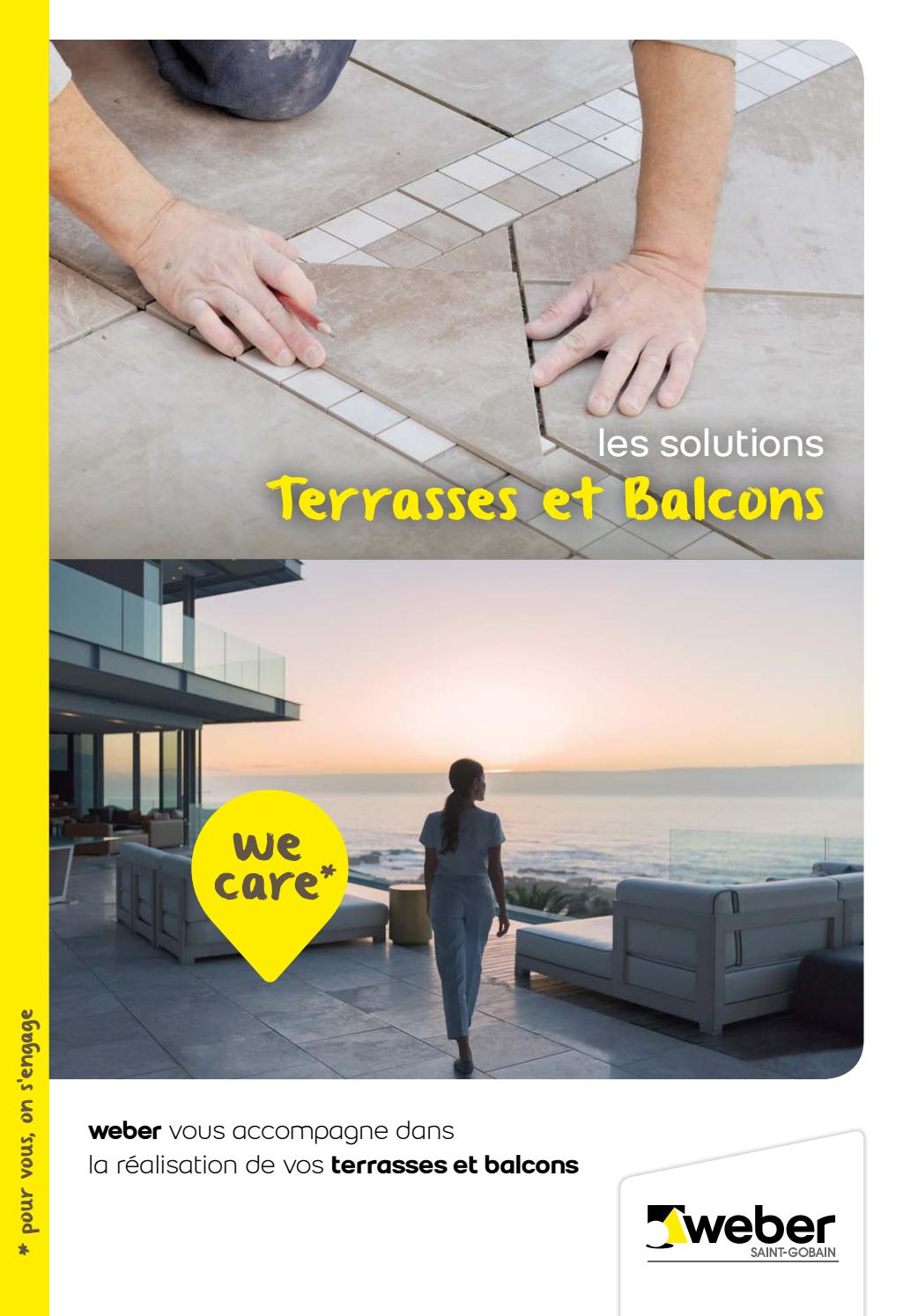 Pose Carrelage Exterieur Barbotine Weber Les Solutions Terrasses Balcons By Weber Issuu