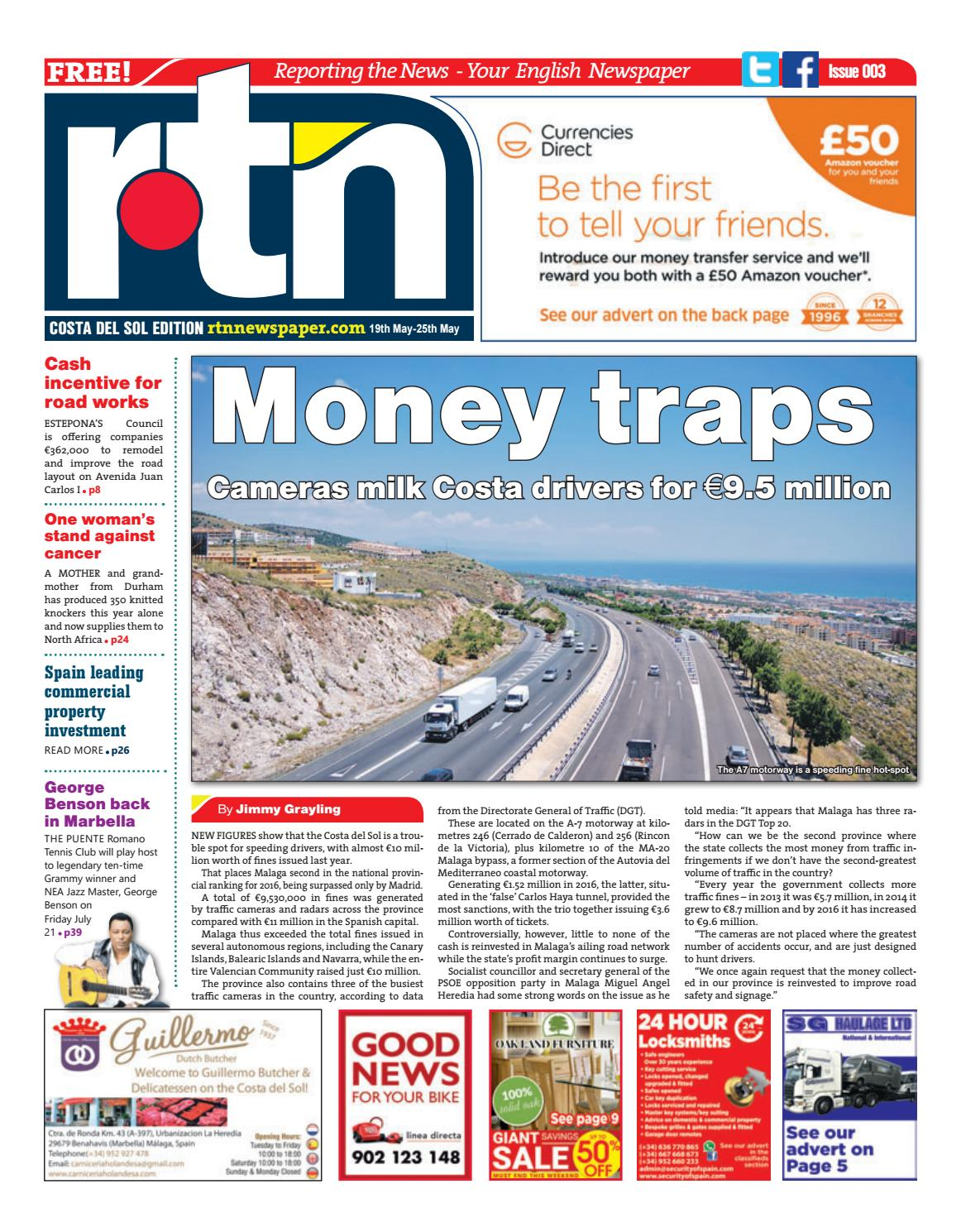 Camino De Ronda Granada Wikipedia Rtn Newspaper Costa Del Sol 19 25 May 2017 Issue 003 By Euro
