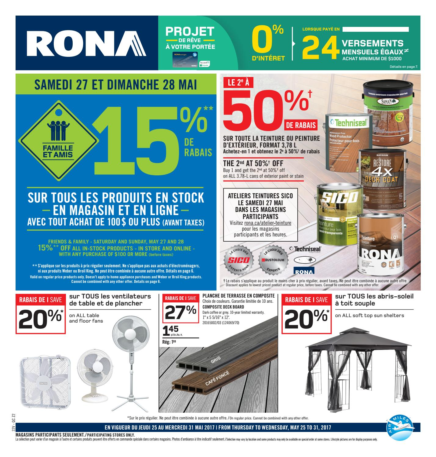 Store Exterieur Rona Publisac 2017 Flyer Rona Wk22 Prox Z2 By Salewhale Issuu