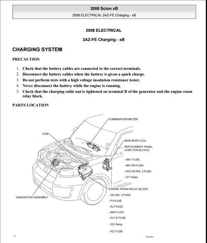 2009 Toyota Scion Xb Wiring Diagrams Wiring Diagram