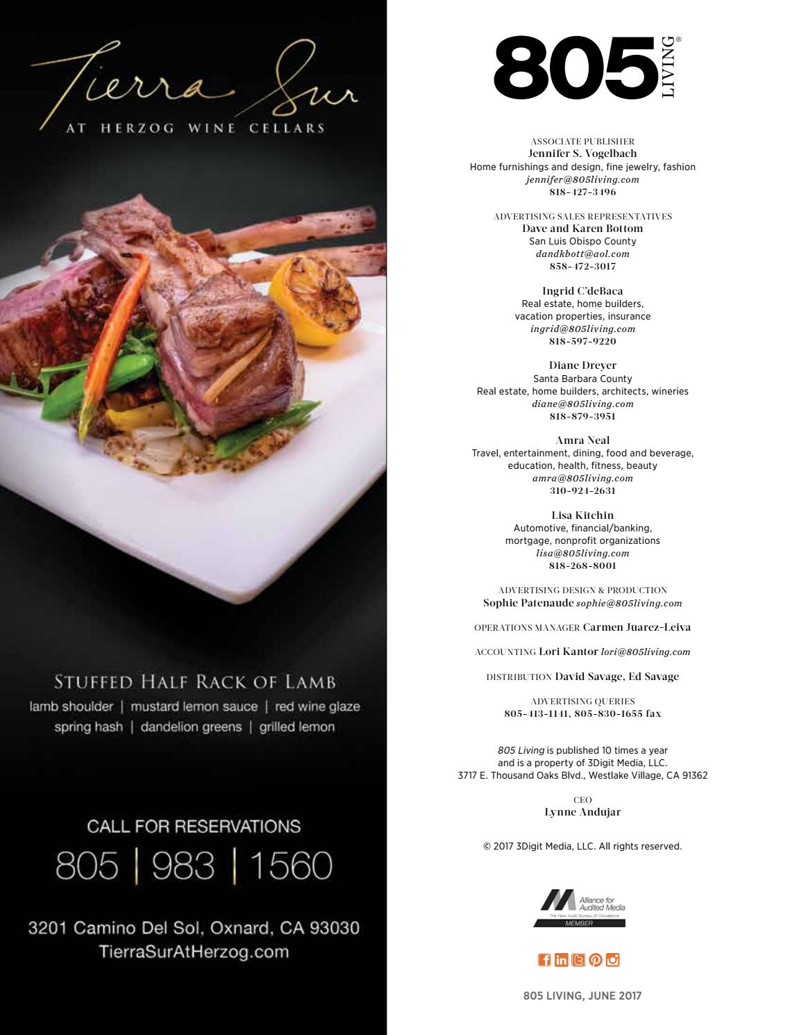 Camino Real Menu Nutritional Information 805 Living June 2017