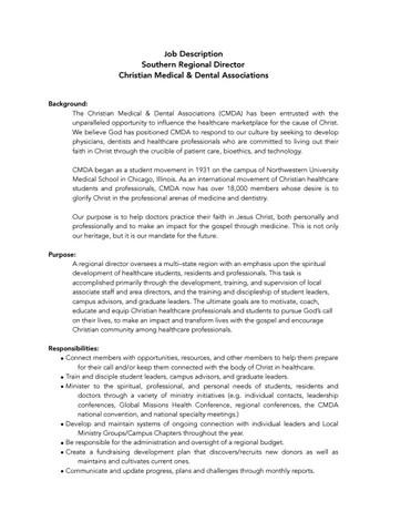 CMDA Regional Director Job Description by Bill Reichart - issuu
