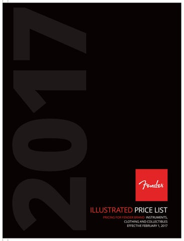 2015 Fender Price List (Illustrated) by Fender - issuu