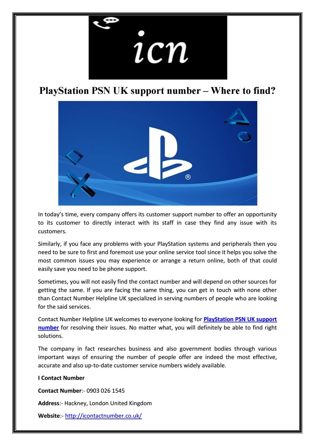 Playstation Contact Playstation Psn Uk Support Number Where To
