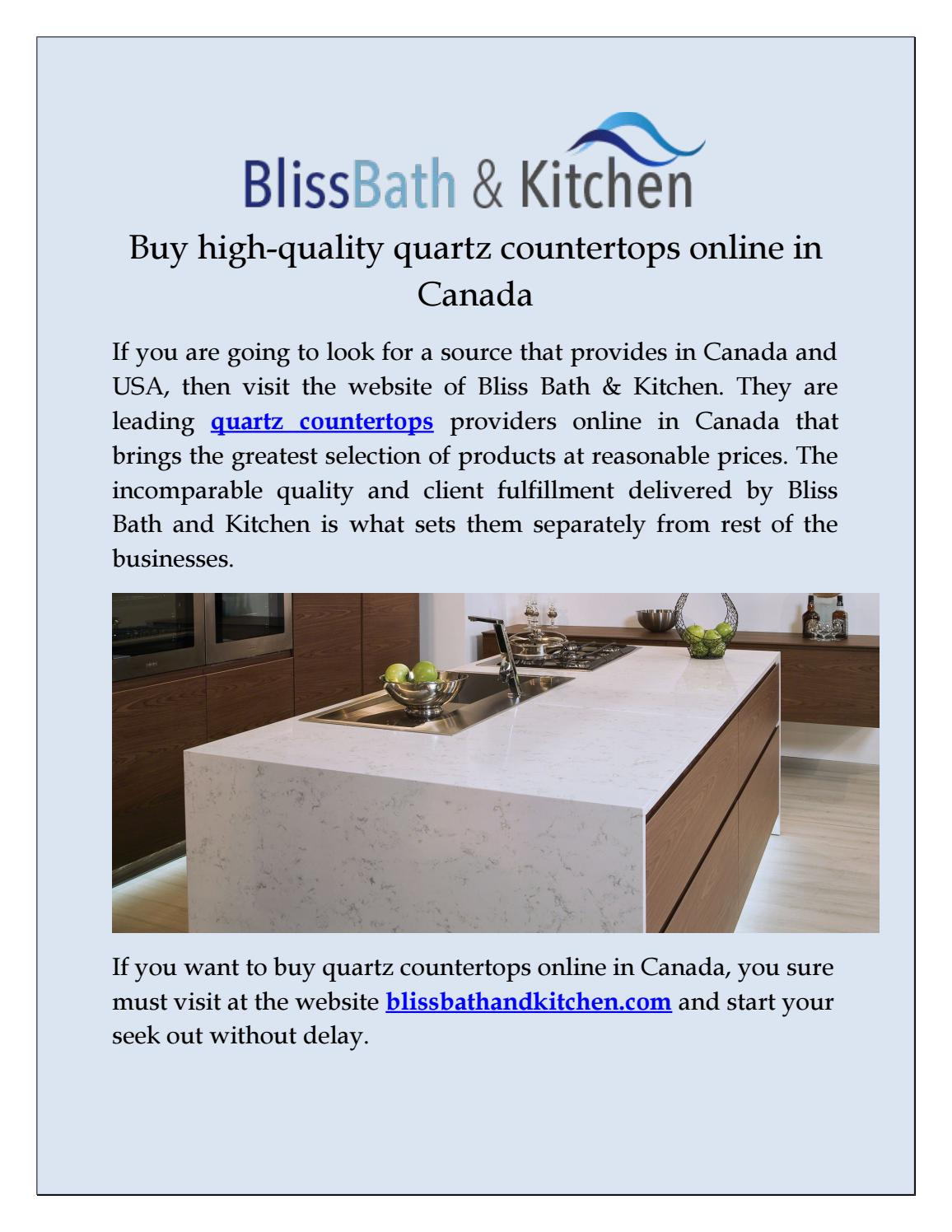 Quartz Countertop Prices Canada Buy High Quality Quartz Countertops Online In Canada By Bliss Bath
