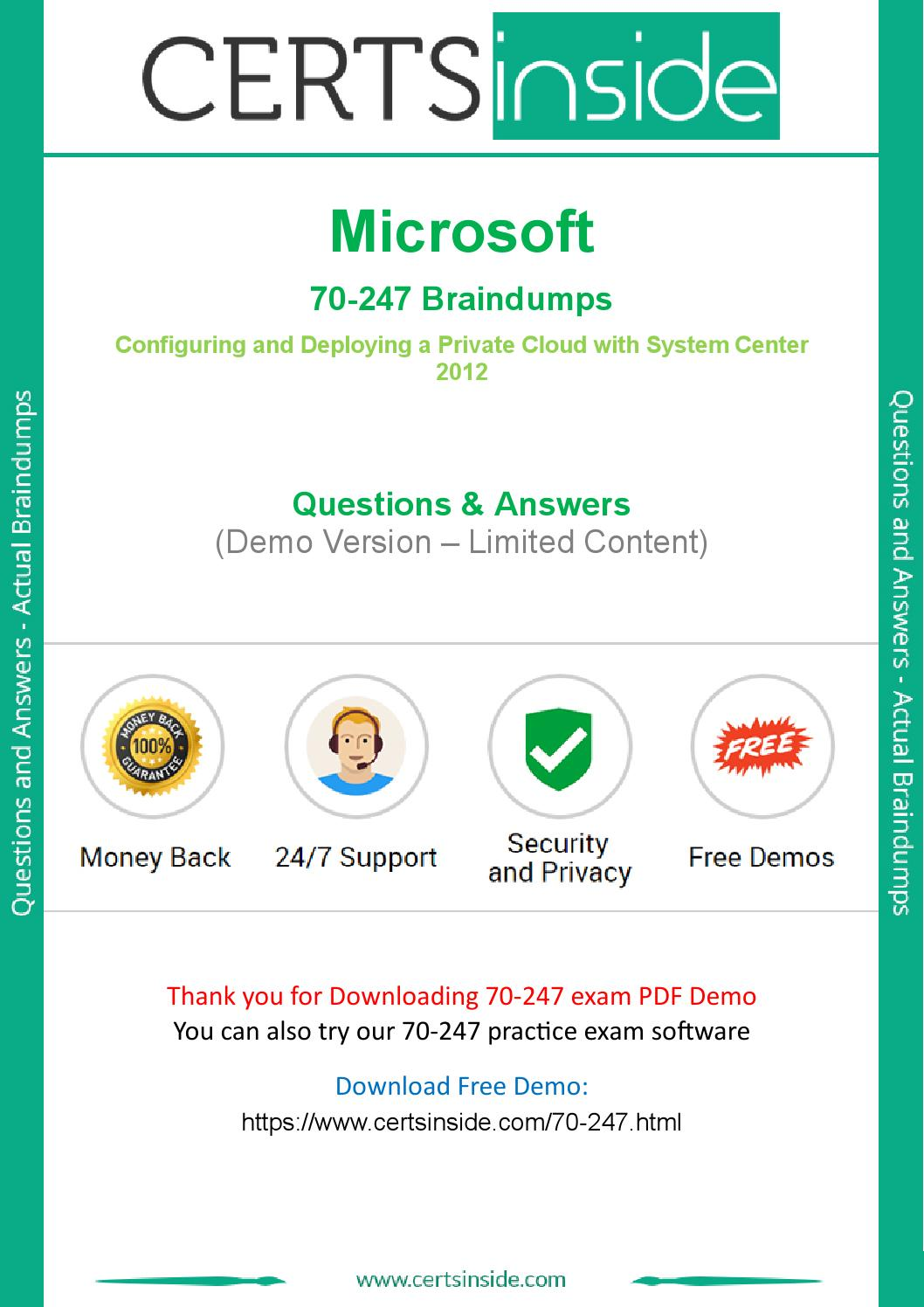 70 247 Microsoft 70 247 Questions Download Actual 70 247 Questions Now