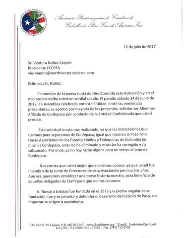 Carta solicitud afiliación de la apccpfa, inc by pasofinotv - issuu