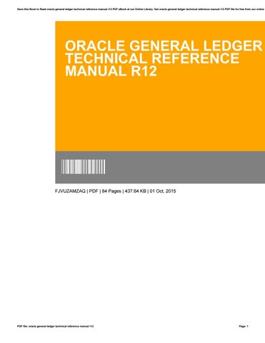 Oracle general ledger technical reference manual r12 by