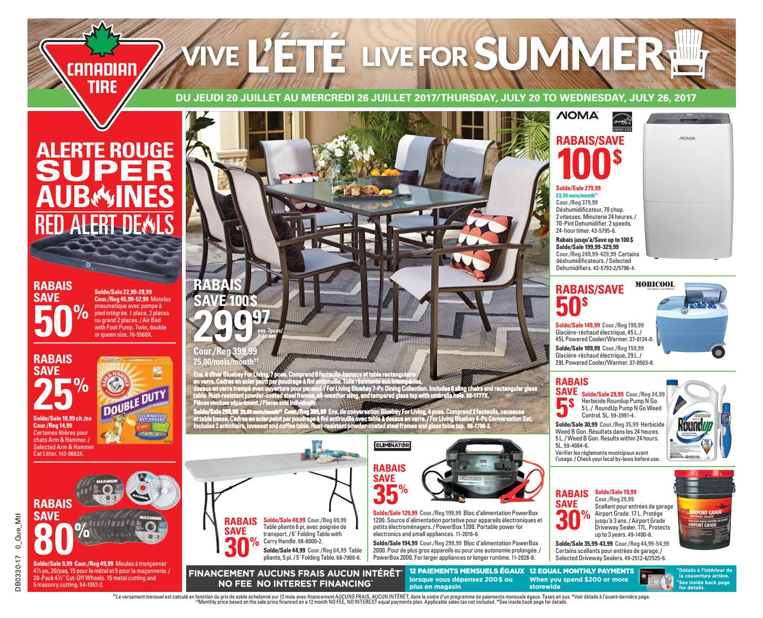 Pouf Exterieur Canadian Tire Publisac 2017 Flyer Ctc Wk30 Bil Mtl By Salewhale Issuu