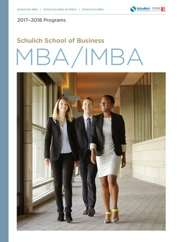 MBA/IMBA Viewbook 2017 by Schulich School of Business - issuu