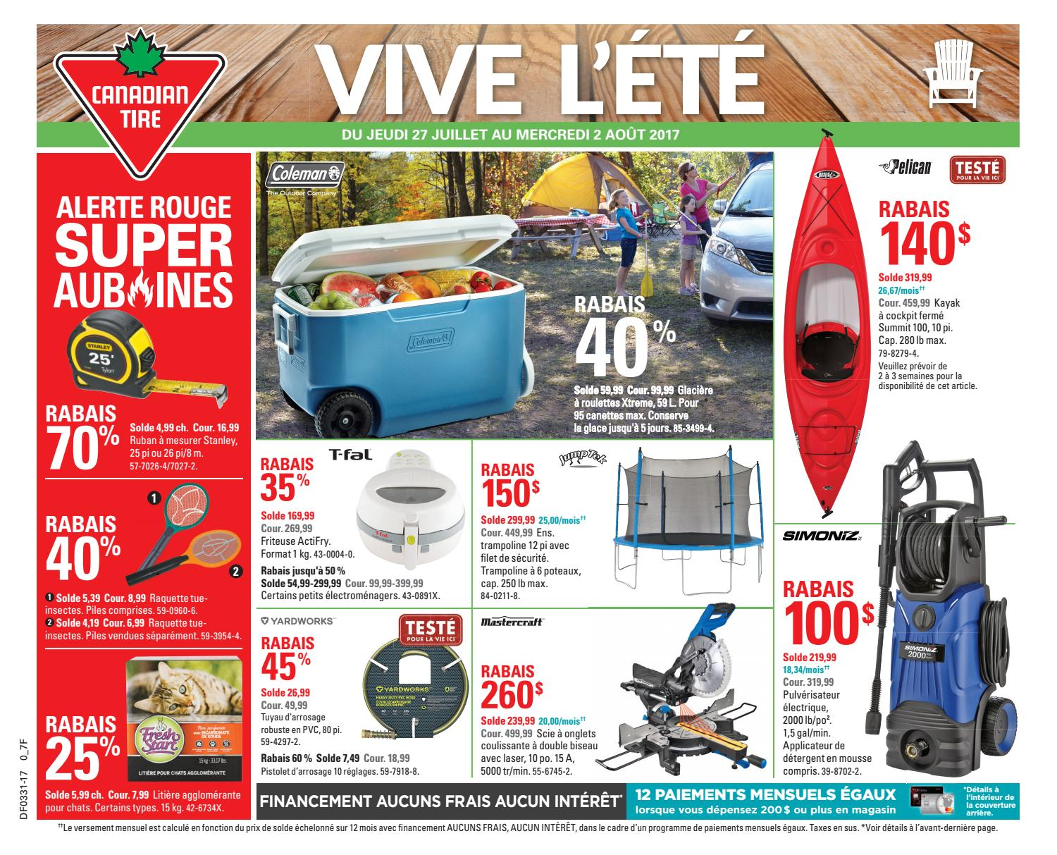 Pouf Exterieur Canadian Tire Publisac 2017 Flyer Ctc Wk31 Fr 7f By Salewhale Issuu