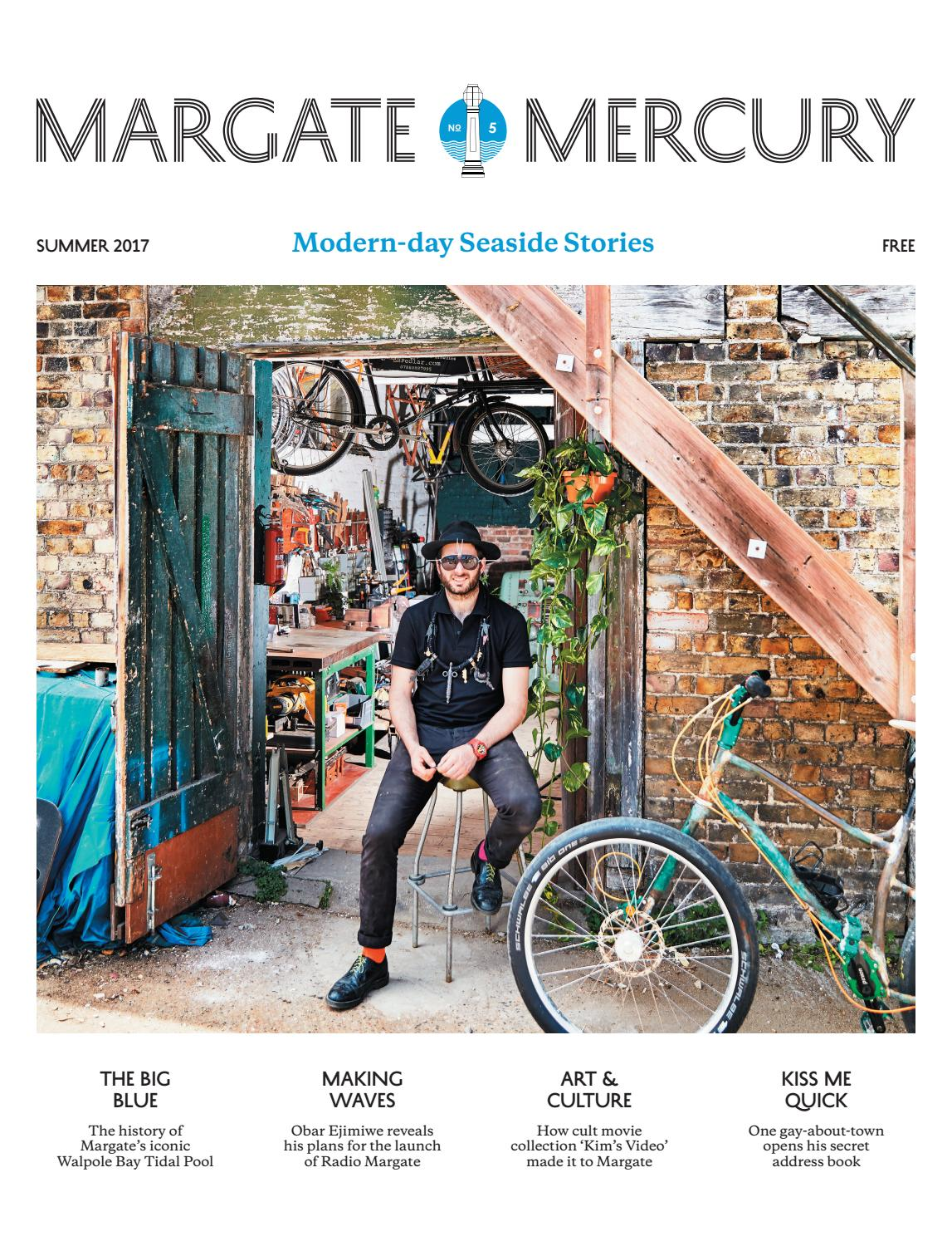Arte Johnson On Bike Margate Mercury Summer 2017
