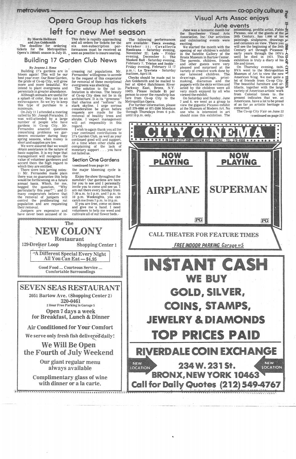 Carte W Garage Co Op City Times 07 05 1980