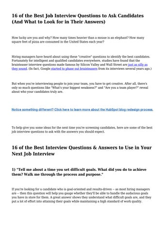 16 of the Best Job Interview Questions to Ask Candidates (And What