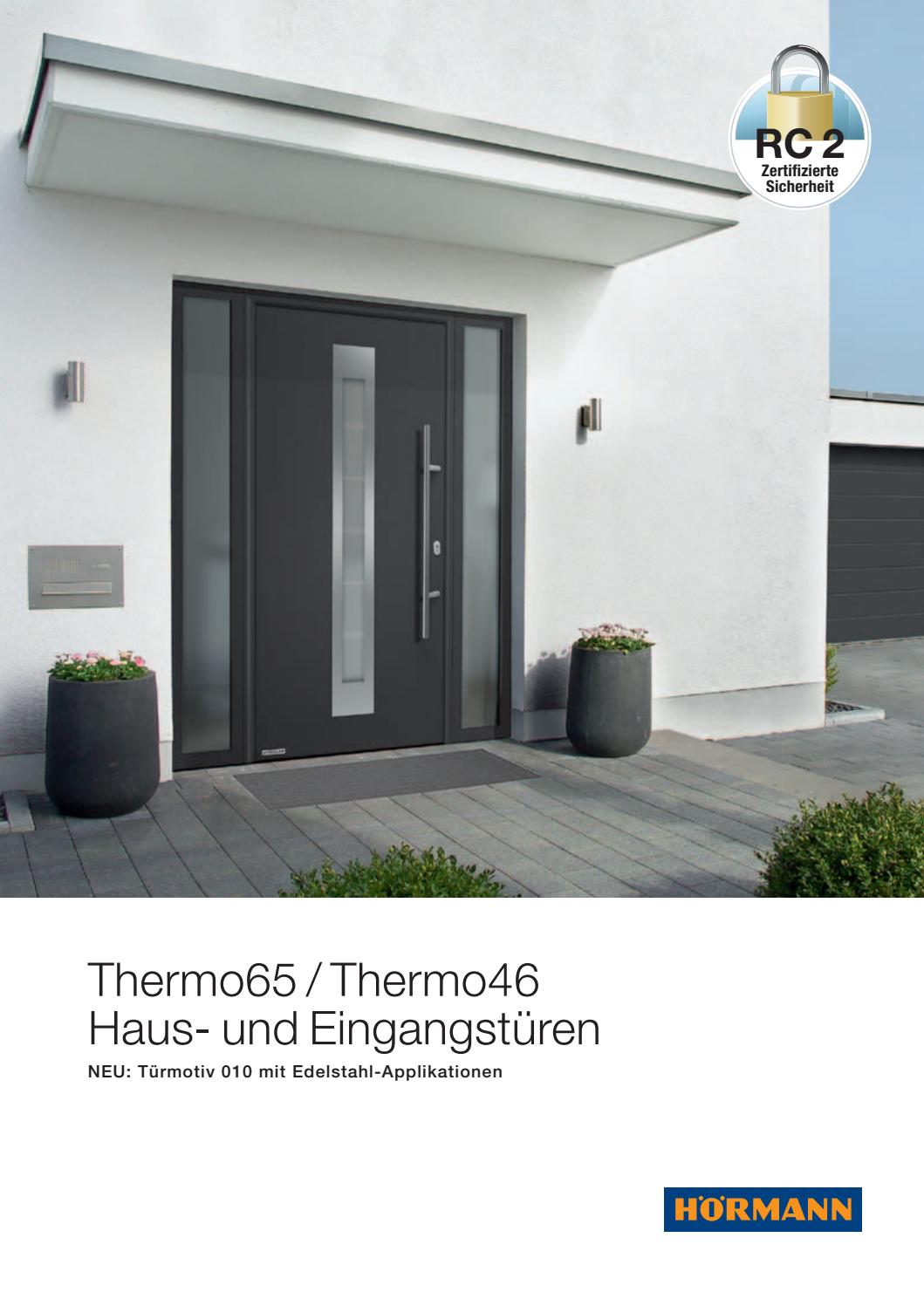 Hörmann Haustür Verbreiterungsprofil Hoermann Thermoproeingangstueren By Kaiser Design Issuu