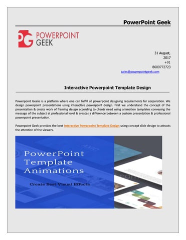 Interactive Professional Powerpoint Template Designn by PowerPoint