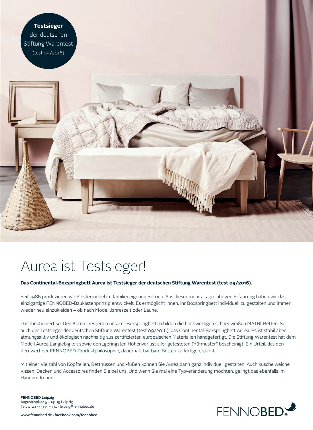 Test Boxspringbetten Stiftung Warentest Top Magazin Leipzig Herbst 2017 By Top Magazin Issuu