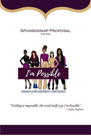IPWEC Sponsorship Proposal by I\u0027m Possible Women\u0027s Empowerment