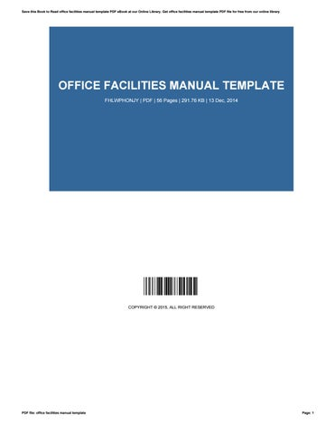 Office facilities manual template by LesleyAvalos2910 - issuu - office manual template