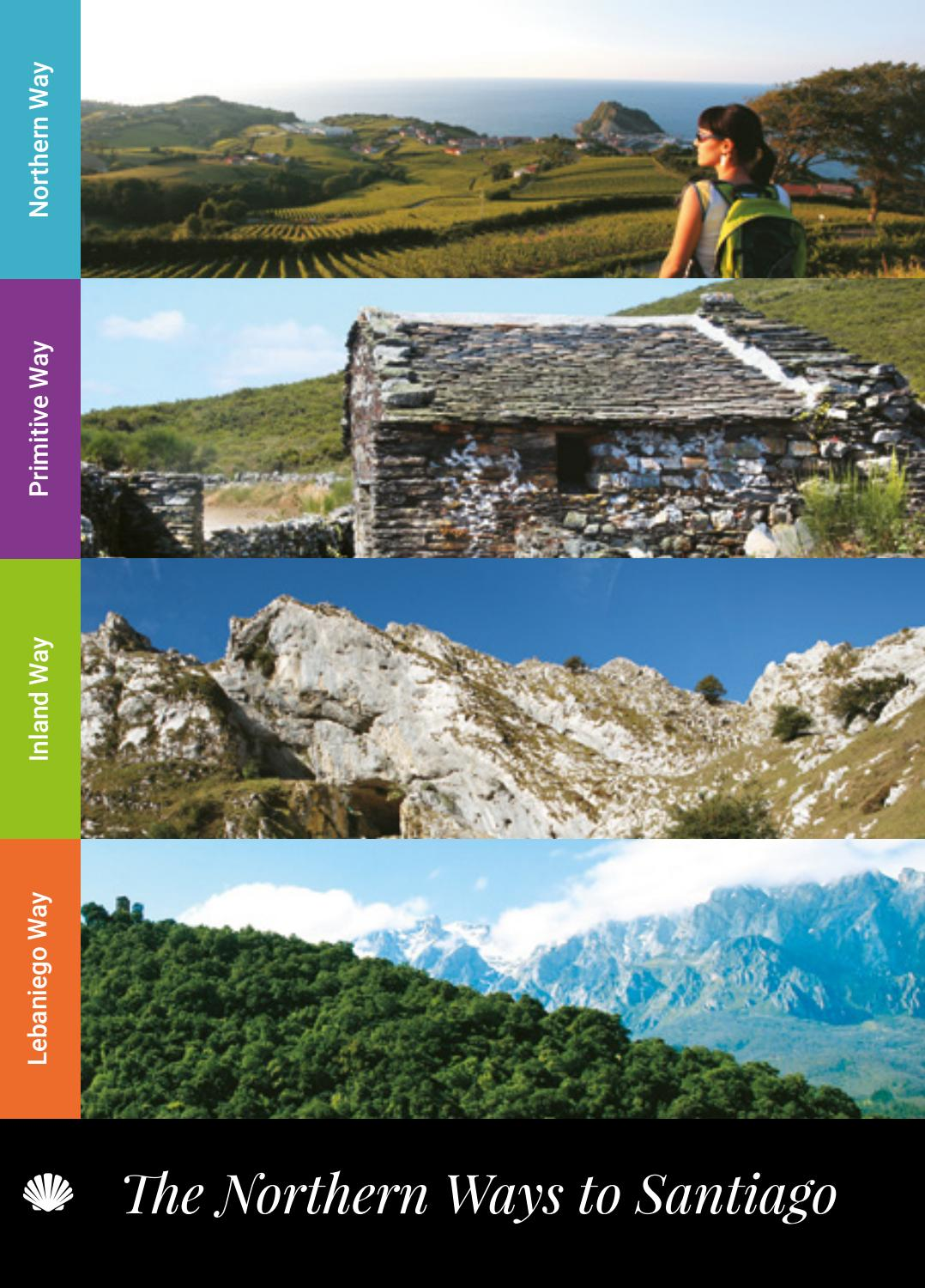 Camino Santiago Zona Norte Guide To The Northern Ways Of St James By Dirección De Turismo