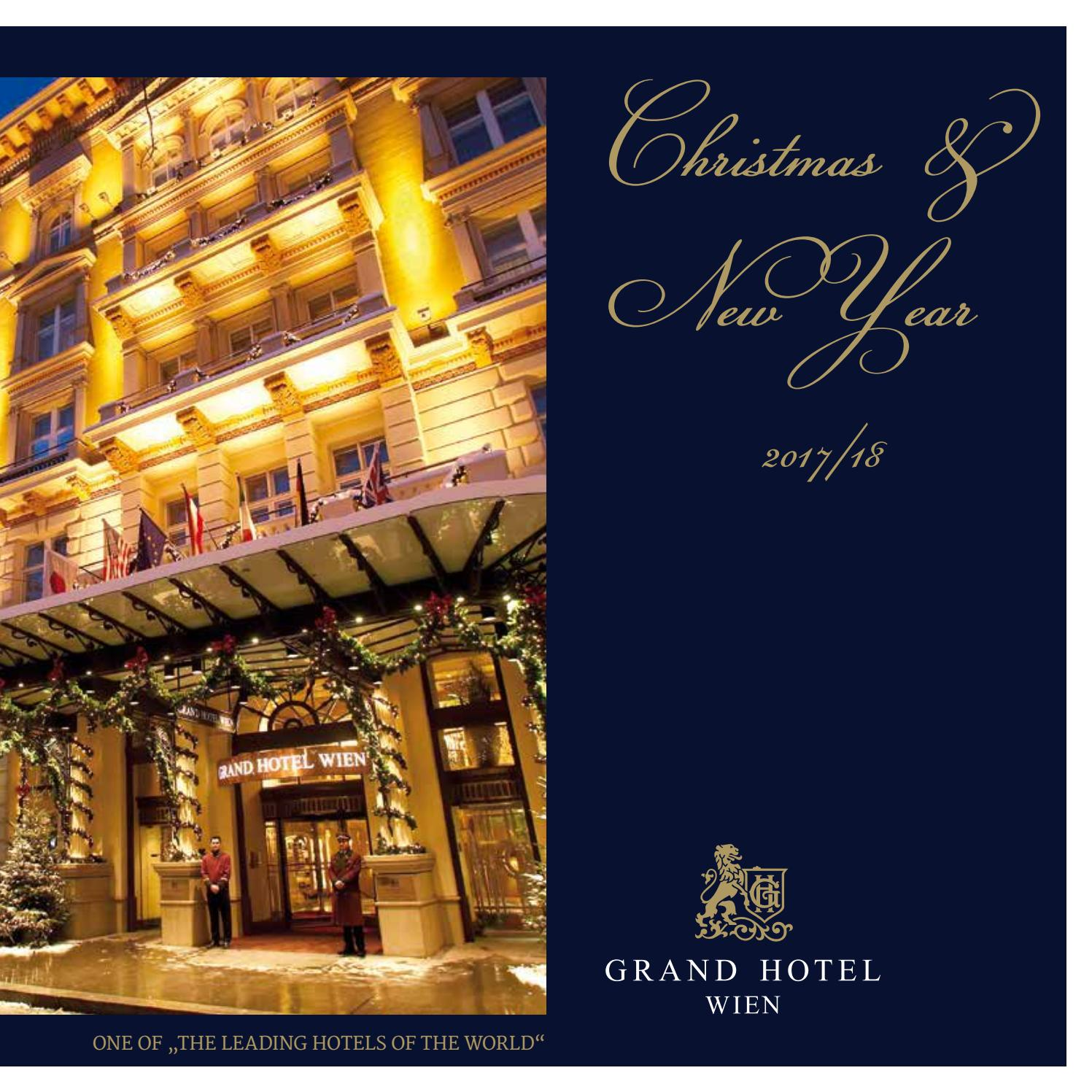 Schottische Küche Wien Grand Hotel Wien Christmas New Year 2017 18 By Grand Hotel Wien