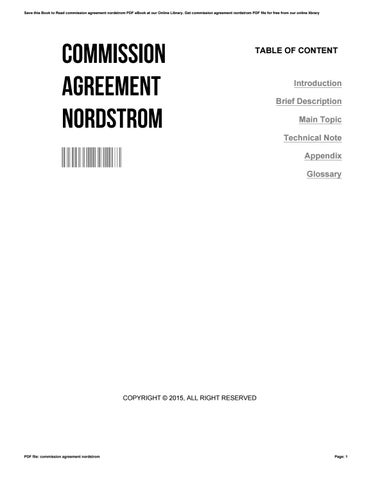Commission agreement nordstrom by IsaacDunlap3018 - issuu