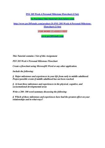 Psy 205 week 4 personal milestone flowchart (2 set) by azxc - issuu