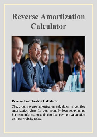 Reverse amortization calculator by harry tailor - issuu