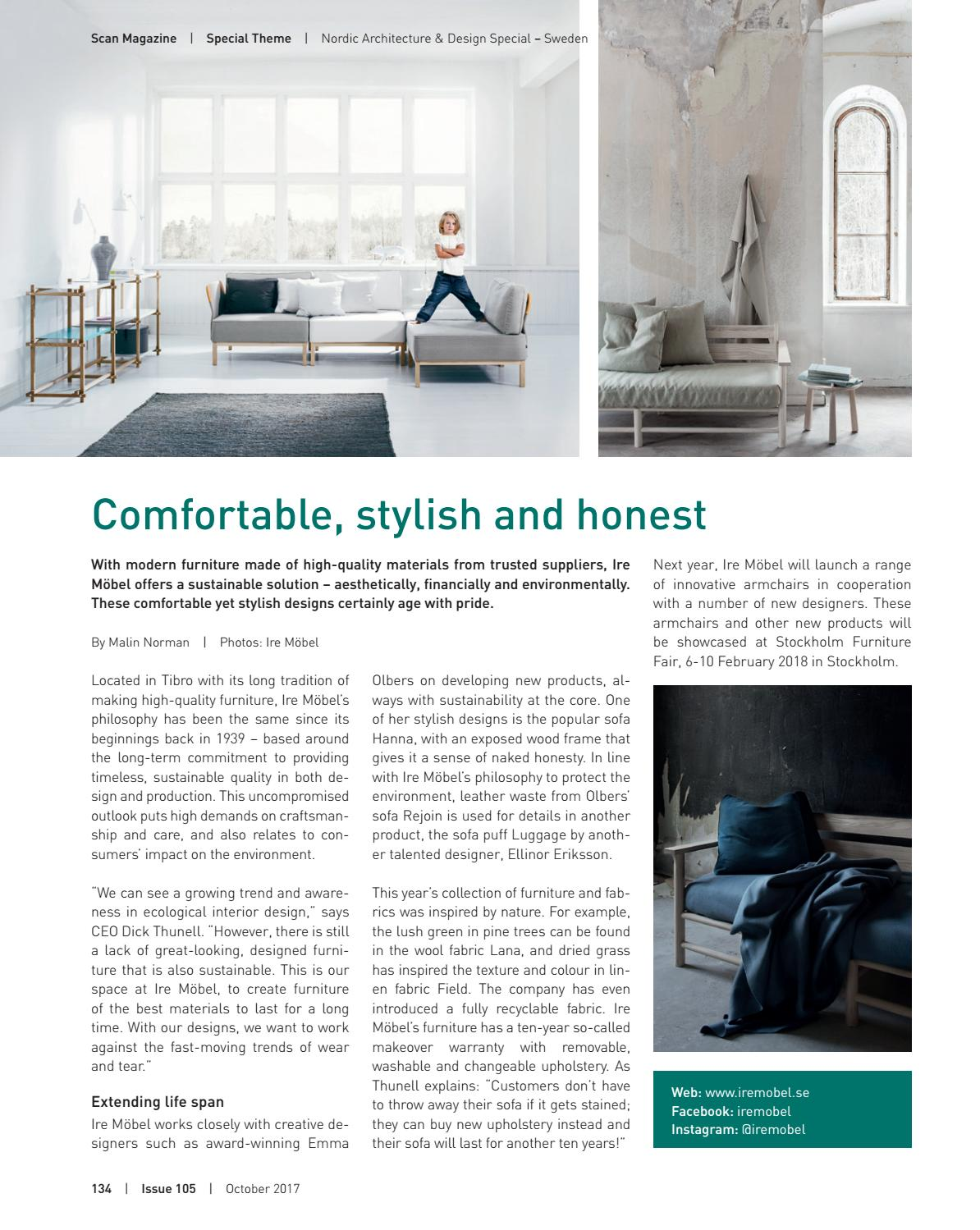 Möbel Scandinavian Design Scan Magazine Issue 105 October 2017